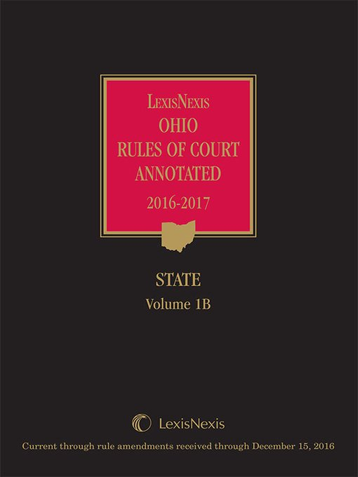 Ebook of the week: LexisNexis Ohio Rules of Court Annotated